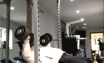 New personal best with the 45kg dumbell incline press at 56yrs of age